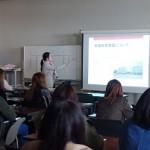 山下先生による栄養教育実習 と中学校教育実習のお話