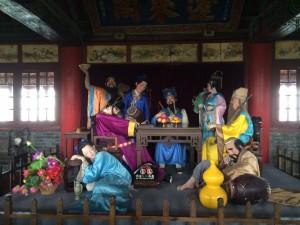蓬莱閣の八仙と呼ばれる神様。日本の七福神を思い出します。