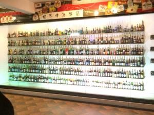 世界のビールが展示されていました。