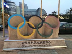青島で見つけたオリンピックの名残り。