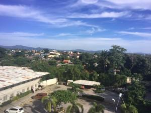 語学学校の寮からの景色